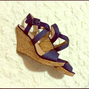 Style & Co. Allexus Denim Wedge Sandals
